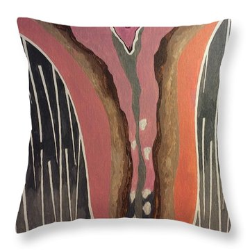 Female Throw Pillow