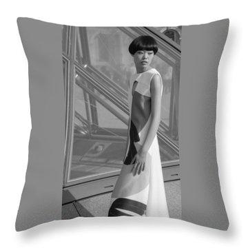 Female Model Throw Pillow
