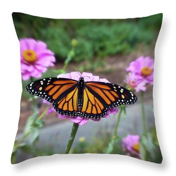 Female Monarch  Throw Pillow