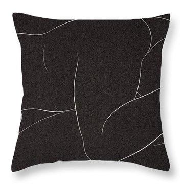 Female Nude Lying Throw Pillow