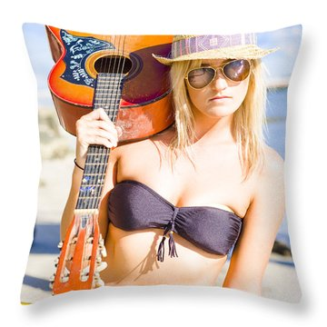 Throw Pillow featuring the photograph Female Performing Artist by Jorgo Photography - Wall Art Gallery