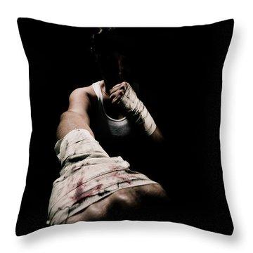 Female Toughness Throw Pillow