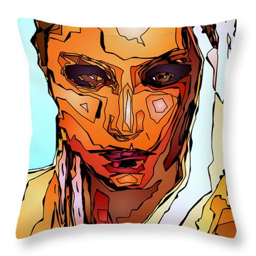 Female Tribute Vii Throw Pillow