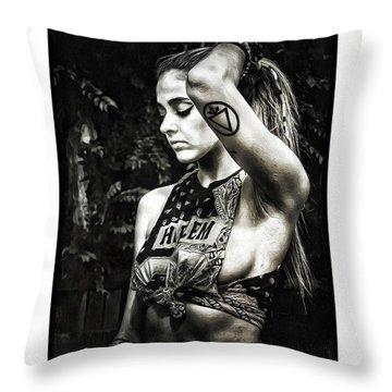 Femella Throw Pillow by Donald Yenson