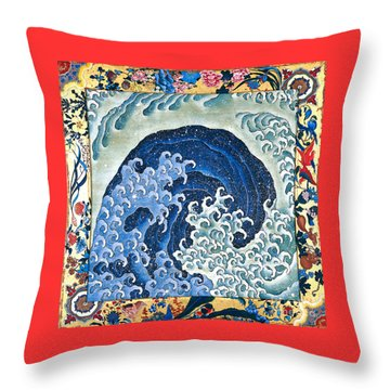 Femenine Wave Throw Pillow by Roberto Prusso