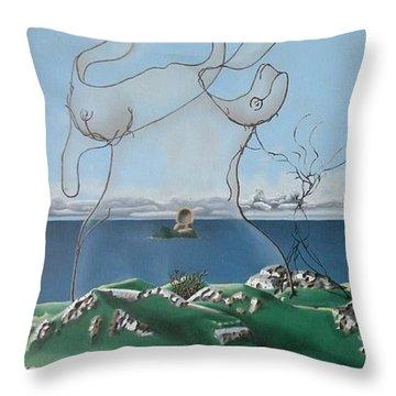 Feminine Landscape Throw Pillow
