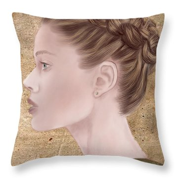 Femme Fatale Throw Pillow by Terry Honstead