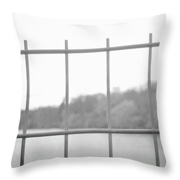 Fence Against Nature Throw Pillow