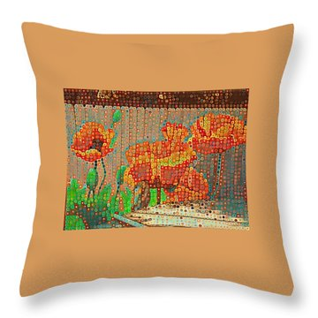 Fence Art Throw Pillow
