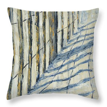 Fence At Palmetto Dunes Throw Pillow