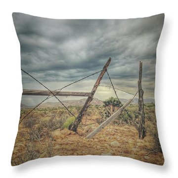 Fence Post Blues  Throw Pillow