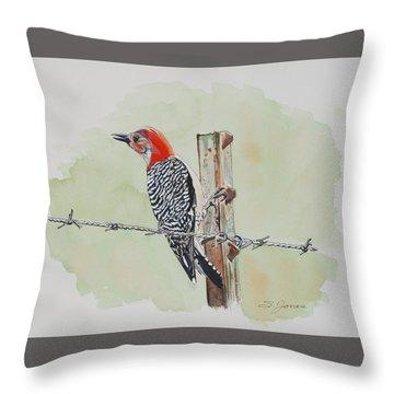 Fence Sitting Throw Pillow