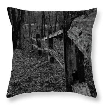 Fence To Nowhere Throw Pillow