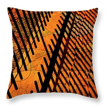 Fenced Framework Throw Pillow by Don Gradner