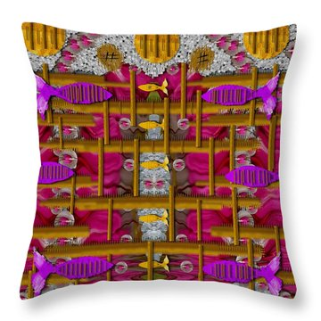 Fences Around Love In Oriental Style Throw Pillow by Pepita Selles
