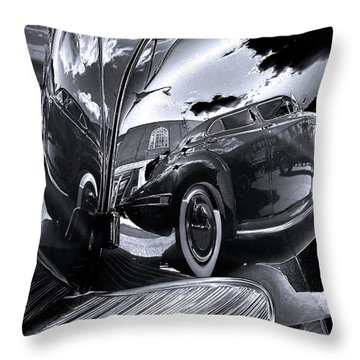 Fender Bender Throw Pillow by Sue Stefanowicz