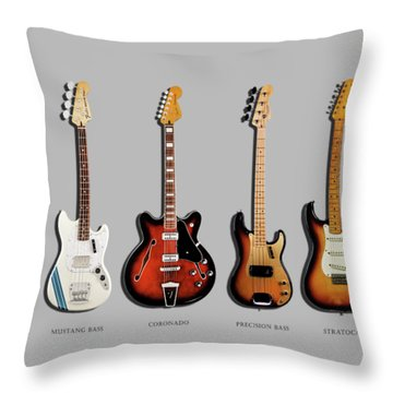Fender Guitar Collection Throw Pillow