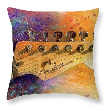 Fender Head Throw Pillow