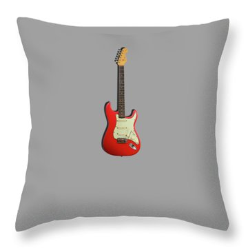 Fender Stratocaster 63 Throw Pillow by Mark Rogan