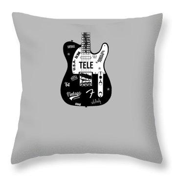 Fender Telecaster 64 Throw Pillow by Mark Rogan
