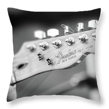 Fender Telecaster Monochrome - Detail Throw Pillow
