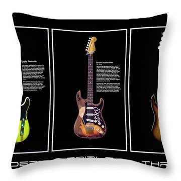 Throw Pillow featuring the photograph Fender Triple Threat by Peter Chilelli