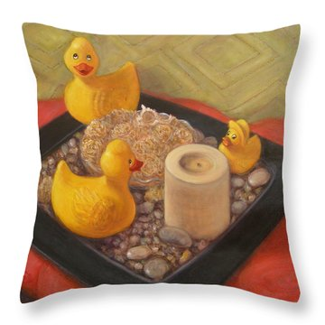 Throw Pillow featuring the painting Feng Shui by Donelli  DiMaria