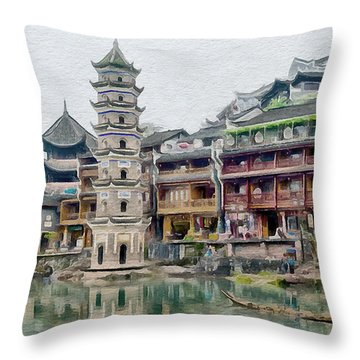 Fenghuang Throw Pillow