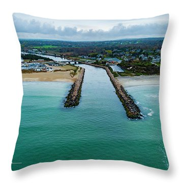 Fenway Beach Breakwater Throw Pillow