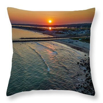 Throw Pillow featuring the photograph Fenway Beach Sunset by Michael Hughes