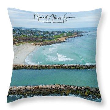 Fenway Beach, Weekapaug Throw Pillow