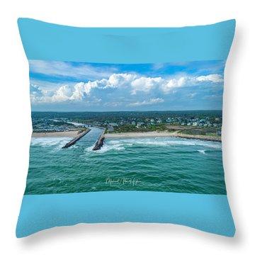 Fenway Beach, Weekapaug,ri Throw Pillow