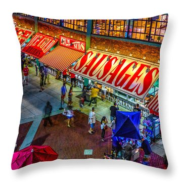 Fenway Food Court 3845 Throw Pillow