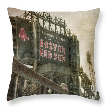 Fenway Park Billboard - Boston Red Sox Throw Pillow