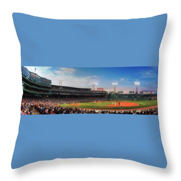 Fenway Park Panoramic - Boston Throw Pillow