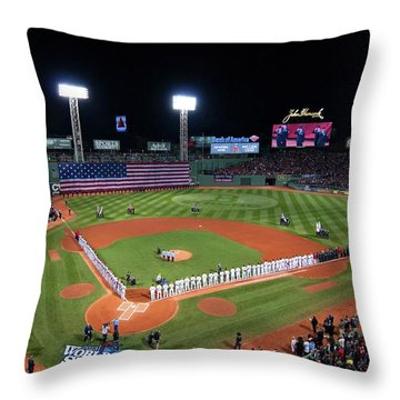 Fenway Park World Series 2013 Throw Pillow