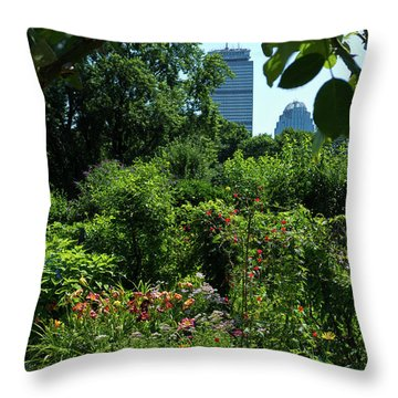 Fenway Victory Gardens In Boston Massachusetts  -30951-30952 Throw Pillow