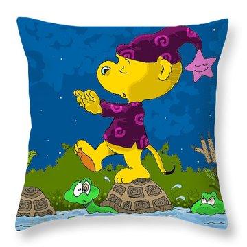 Ferald Sleepwalking Throw Pillow by Keith Williams