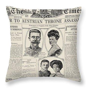 Ferdinand Assassination Throw Pillow