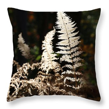 Throw Pillow featuring the photograph Fern Glow 2 by William Selander