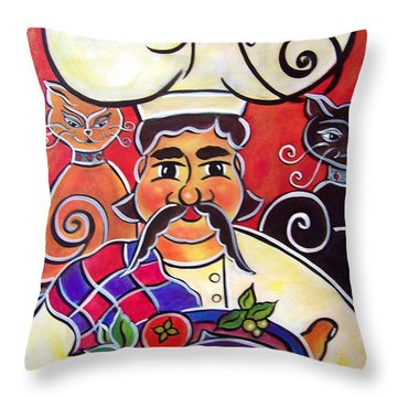Fernando And The Fish Throw Pillow