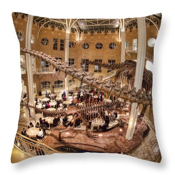Fernbank Museum Throw Pillow by Anna Rumiantseva