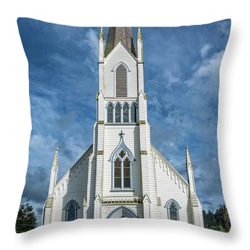 Throw Pillow featuring the photograph Ferndale Catholic Church by Greg Nyquist