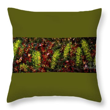 Ferns And Berries Throw Pillow