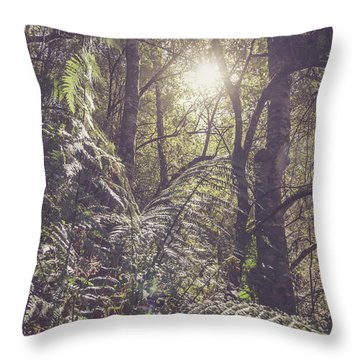 Ferns And Sunshine Throw Pillow