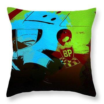 Ferrari 250 Gtb 2 Throw Pillow by Naxart Studio