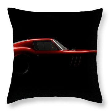 Ferrari 250 Gto - Side View Throw Pillow