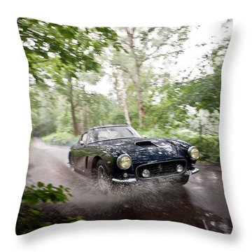 Ferrari 250 Swb Splash Throw Pillow