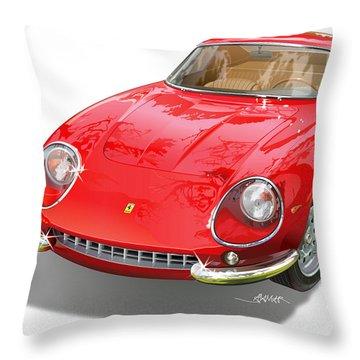 Ferrari 275 Gtb Illustration Throw Pillow