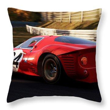 Ferrari 330 P4, Nordschleife - 17 Throw Pillow